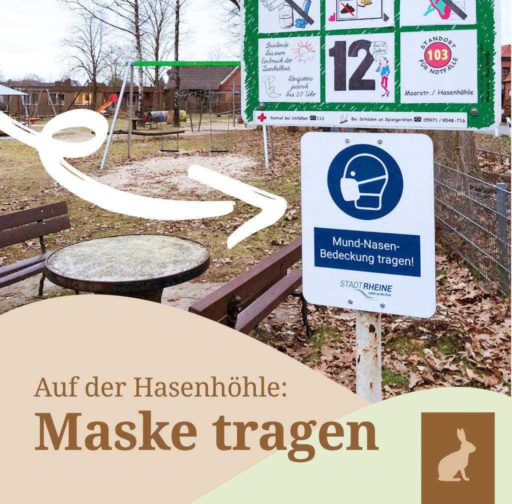 Spielplatz Rheine Maske tragen IG Hasenhöhle in Mesum